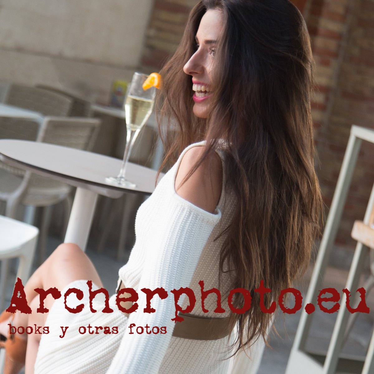 Barbara Isabel in a white short crochet dress,photographer,fotografo,Archerphoto