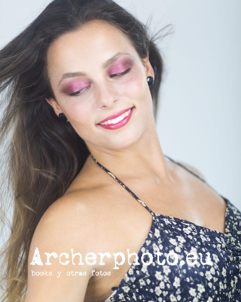 Patricia en el estudio de fotografia de Valencia de Archerphoto, fotograof