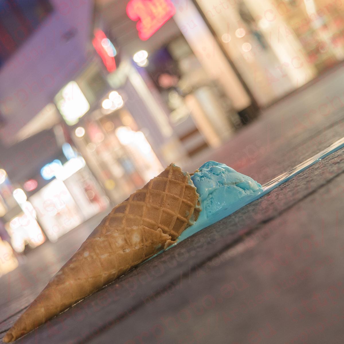 un helado en el suelo en Maguncia